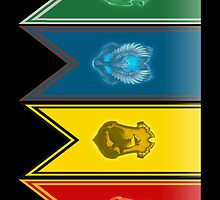 Harry Potter House Flags by wilesr
