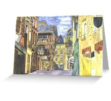 Dinan Medieval Old Town Brittany Greeting Card