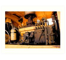 Caterpillar Loader Engine Art Print