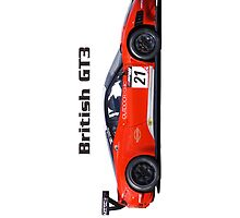 """British GT3"" Orange Ferrari iPhone Case by motapics"