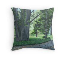 Everglades Gardens Blue Mountains Throw Pillow
