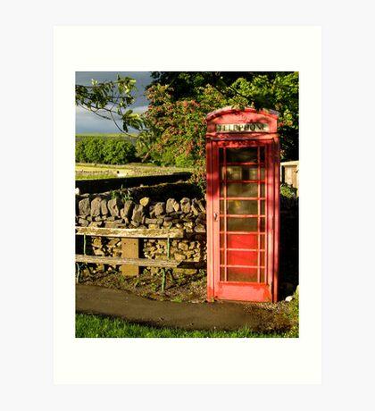 Village telephone box Art Print