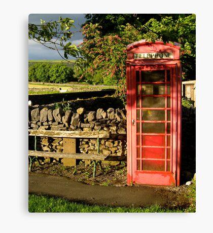 Village telephone box Canvas Print