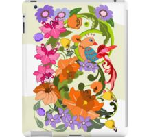 Tropical Bird and Damask flowers case iPad Case/Skin