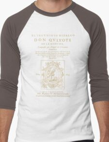 Cervantes, Don Quijote de la Mancha. Dark clothes version Men's Baseball ¾ T-Shirt