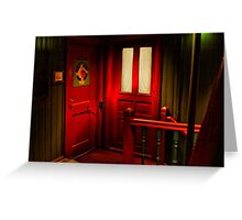 Behind the Red Door Greeting Card