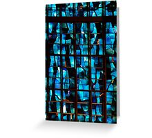 Modernist Stained Glass Greeting Card