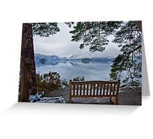 A time to reflect over the Jaws of Borrowdale Greeting Card