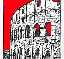 The Colosseum in red by Emma Bennett