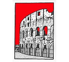 The Colosseum in red Photographic Print