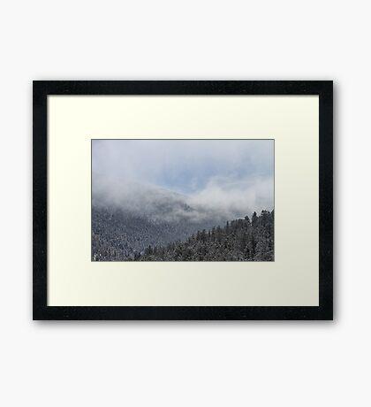 The Heavens Meet The Earth Framed Print