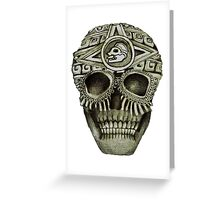 Mayan Skull Greeting Card
