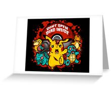 Pokemon Invade Greeting Card