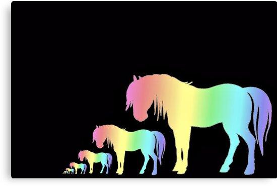 Rainbow Horses by aprilann