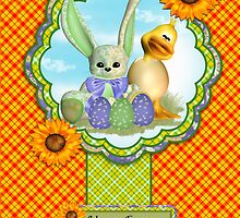 Daughter Easter Greeting Card With Spring Colors by Moonlake