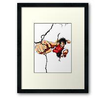 Luffy - Cracked Framed Print