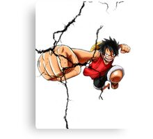 Luffy - Cracked Canvas Print