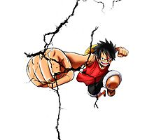 Luffy - Cracked Photographic Print