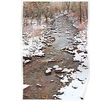 Winter Creek Scenic View Poster