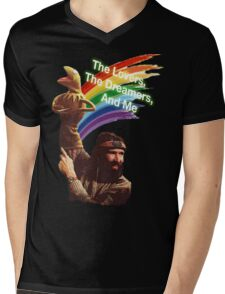 Jim Henson and Kermit Mens V-Neck T-Shirt