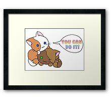 Motivational Kittens Framed Print