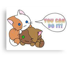 Motivational Kittens Canvas Print