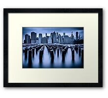 Manhattan Blues Framed Print