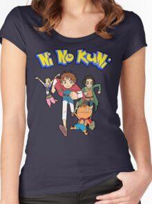 Pokemon + Ni No Kuni = Pokuni? Ninokémon? Women's Fitted Scoop T-Shirt