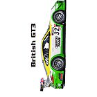 """""""British GT3"""" Green-Yellow Race Car - iPhone Case by motapics"""