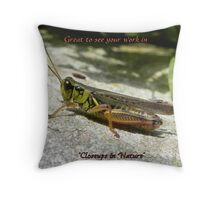Closeups In Nature Banner Throw Pillow