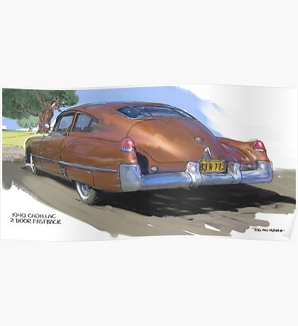 1949 Cadillac Fastback Poster
