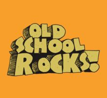 Old School Rocks T-Shirt by retrorebirth