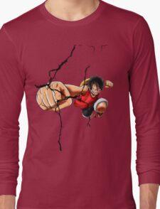 Luffy - Cracked Long Sleeve T-Shirt