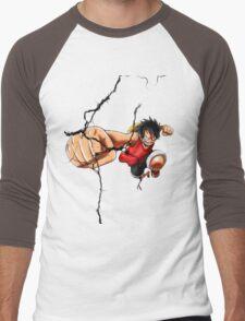 Luffy - Cracked Men's Baseball ¾ T-Shirt