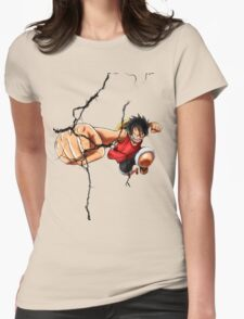 Luffy - Cracked Womens Fitted T-Shirt