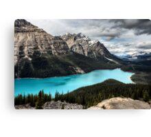 Peyto Lake Alberta Canada emerald green color Canvas Print