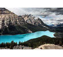Peyto Lake Alberta Canada emerald green color Photographic Print
