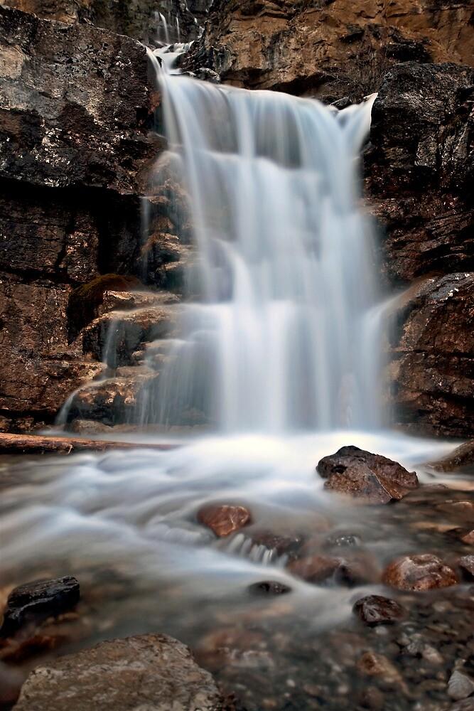 Tangle Waterfall Alberta Canada Jasper Highway cascade by pictureguy