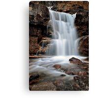 Tangle Waterfall Alberta Canada Jasper Highway cascade Canvas Print