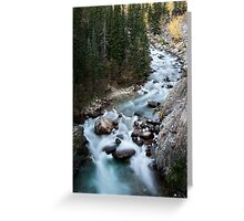 Athabasca River Rocky Mountains white water Canada Greeting Card
