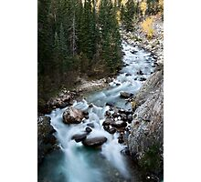 Athabasca River Rocky Mountains white water Canada Photographic Print