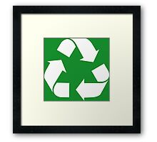 Recycle, save the planet, earth day, green Framed Print