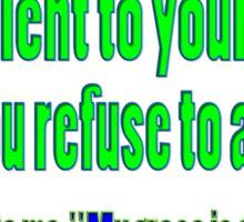 God's sufficient grace, 2cor 12:9 Sticker
