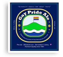 Gay Pride Ale Canvas Print