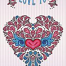 I love you - heart card by Tracey Quick