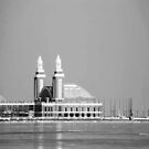 Navy Pier Monochrome by CanoeComsArt
