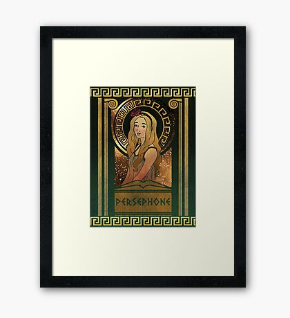 Olympia Heights: Persephone Framed Print