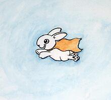 Super (cute) Bunny by Daniel Pearson