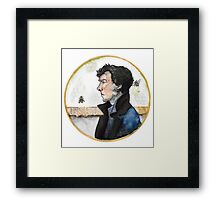 Sherlock watercolor Framed Print