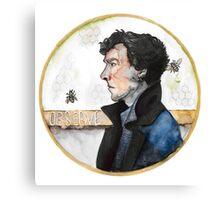 Sherlock watercolor Canvas Print